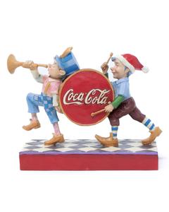 Coca-Cola Jim Shore Elfs & Drum Figurine