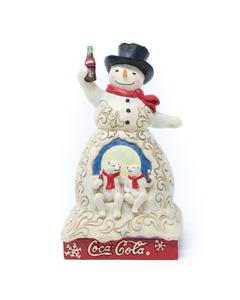 Coca-Cola Jim Shore Snowman & Polar Bears Figurine