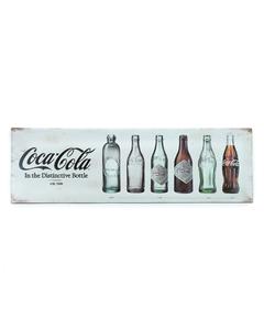 Coca-Cola Bottle Evolution Galvanized Large Steel Sign