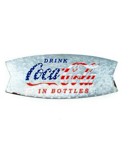 Coca-Cola Americana Curved Tin Sign