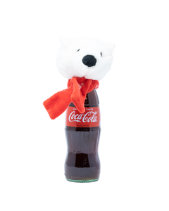 Coca-Cola Polar Bear Plush Bottle Topper