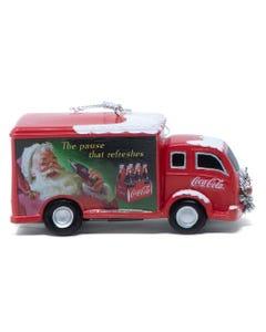 Coca-Cola Truck with Wreath Ornament