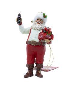 Coca-Cola Santa Holding 6 Pack Ornament