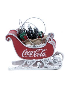 Coca-Cola Sleigh with Bottles Ornament