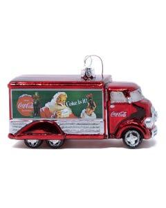 Coca-Cola Truck Glass Ornament