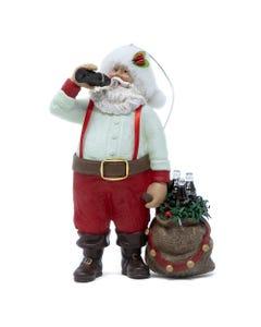 Coca-Cola Santa Drinking Coke Ornament