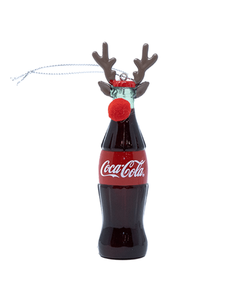 Coca-Cola Bottle with Antlers Ornament