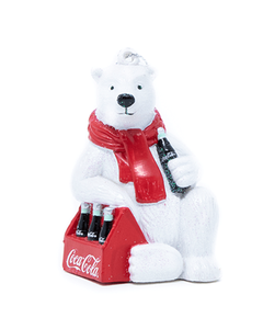Coca-Cola Polar Bear w/6 Pack Ornament