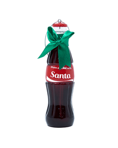 Coca-Cola Share a Coke with Santa Bottle Ornament
