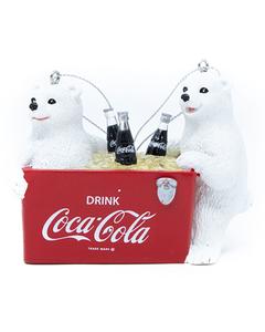 Coca-Cola Polar Bear Cubs w/Cooler Ornament