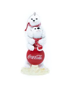 Coca-Cola Polar Bears with Coca-Cola Sign Ornament