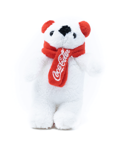 Coca-Cola Polar Bear with Earmuffs Plush Ornament