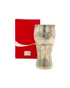 Coca-Cola Silver Contour Glass