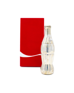 Coca-Cola Silver Contour Bottle