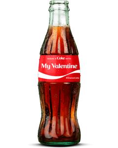 """My Valentine"" Coca-Cola Bottle"