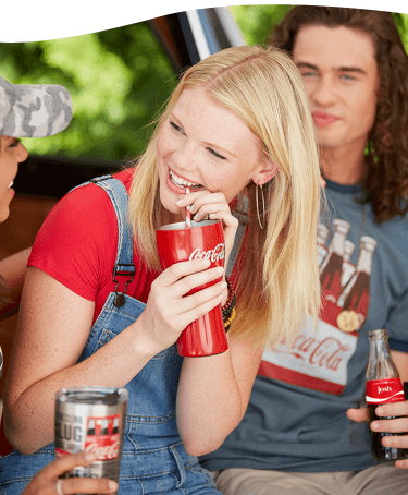 People enjoying Coke